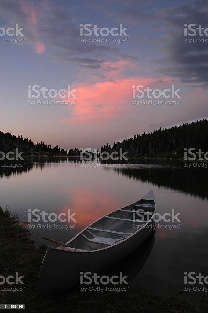 Sunset Glow at the Lake royalty-free stock photo