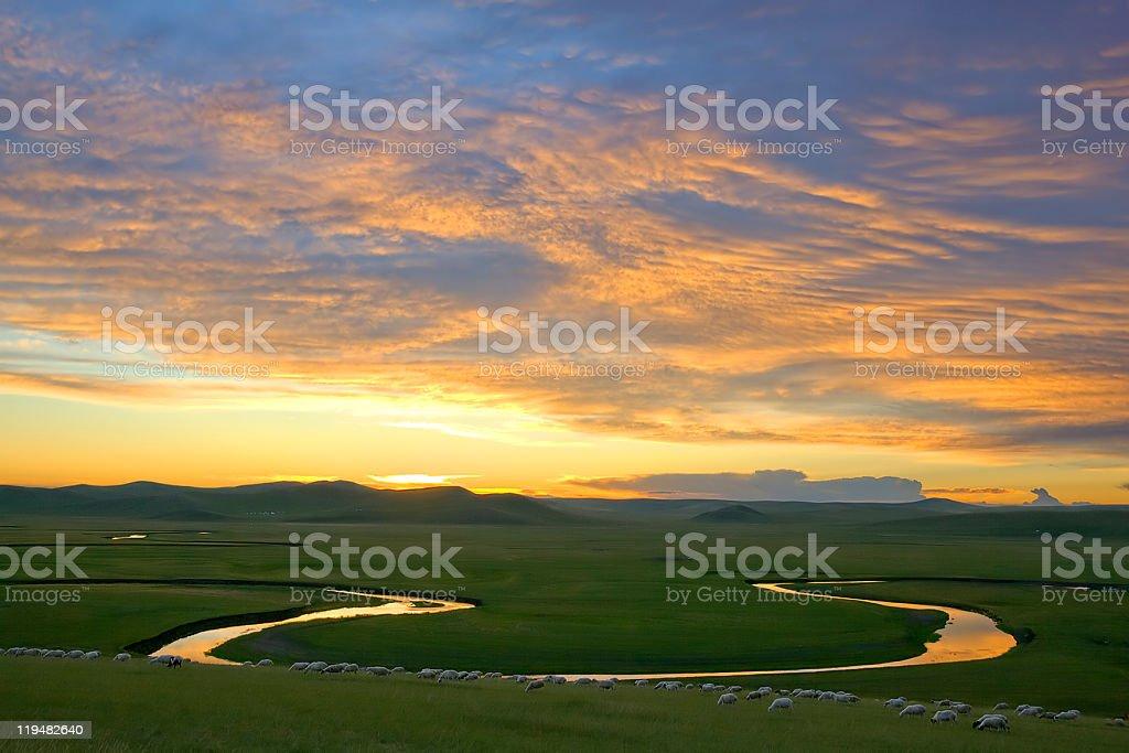sunset glow royalty-free stock photo