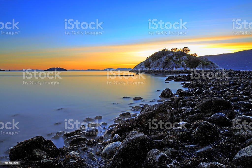Sunset Glow Seascape stock photo