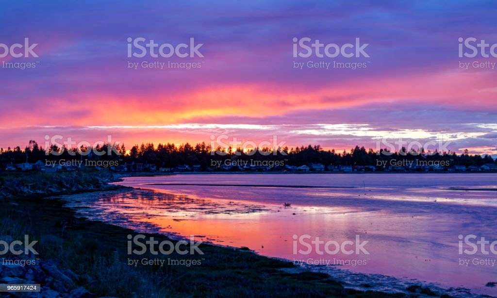 weergave van de sunset glow - Royalty-free Avondschemering Stockfoto