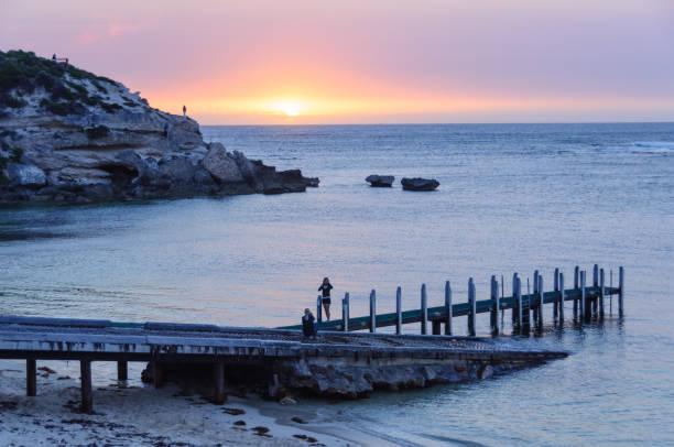 Sunset - Gnarabup Beach stock photo