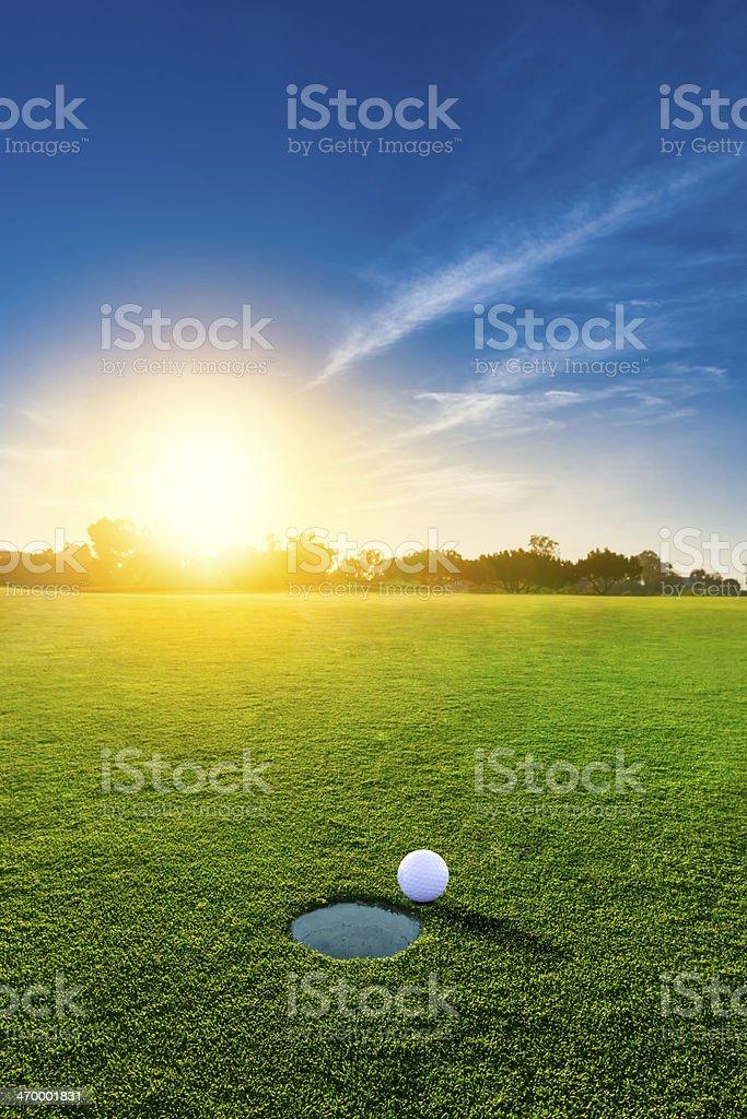 Golf au coucher du soleil - Photo