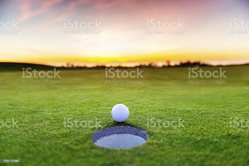 Sunset Golf stock photo