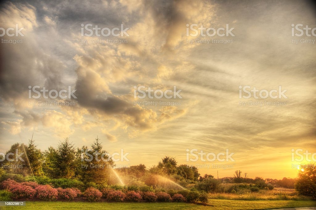 Sunset HDR stock photo