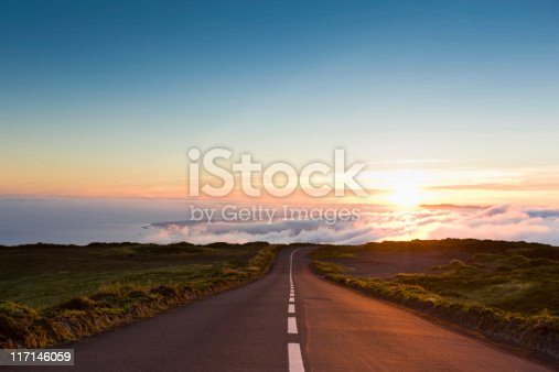 istock Sunset Highway into the Clouds 117146059