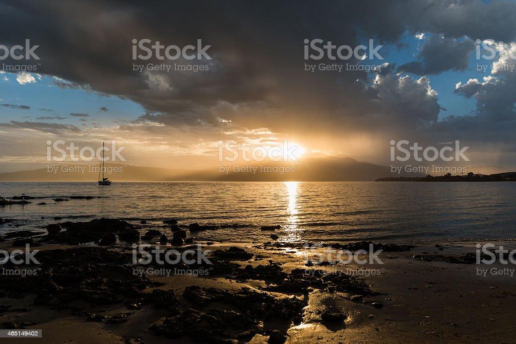 Sunset, Hobart Tasmania stock photo