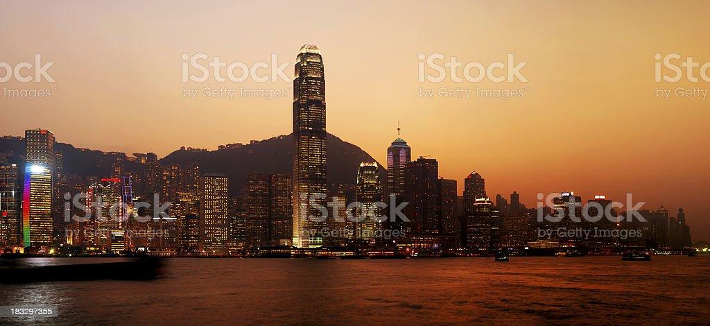Sunset Hong Kong royalty-free stock photo