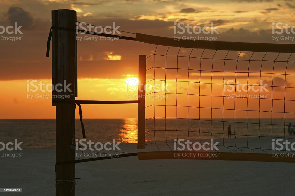 Sunset in a net royalty-free stock photo