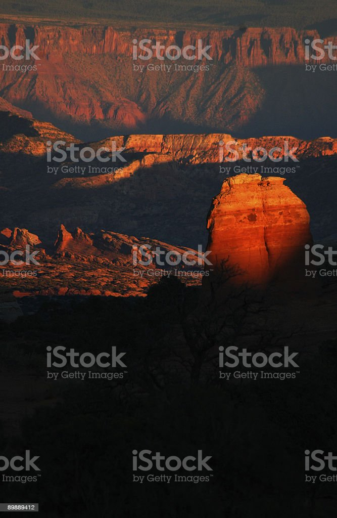 Sunset in Arches National Park, Utah royalty free stockfoto