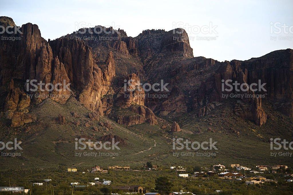 Sunset in Arizona royalty-free stock photo