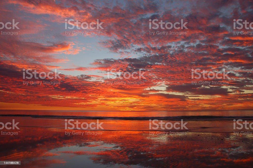 Sunset in Australia stock photo
