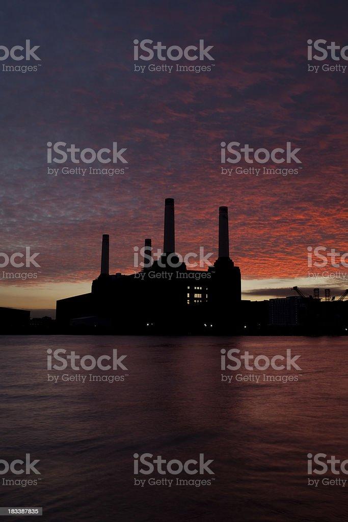 Sunset In Battersea stock photo
