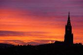 A wonderfull sunset in Bern/Switzerland