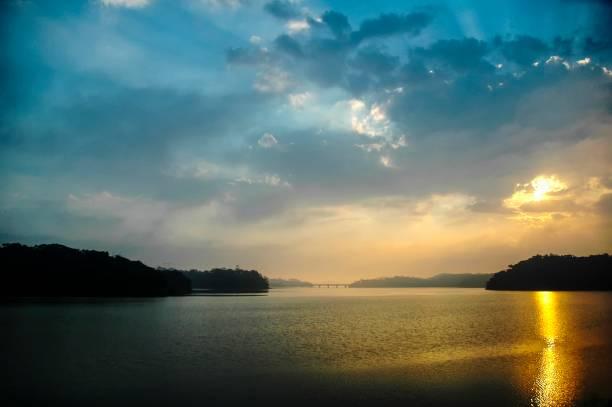 Sonnenuntergang in Billings Damm – Foto