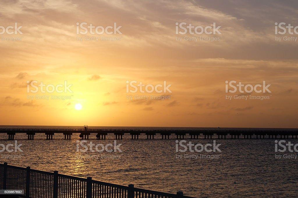 Sunset in Bimini stock photo