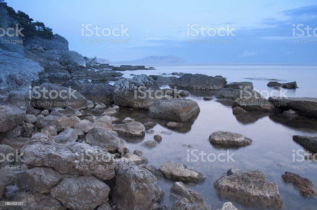 sunset in Black Sea royalty-free stock photo