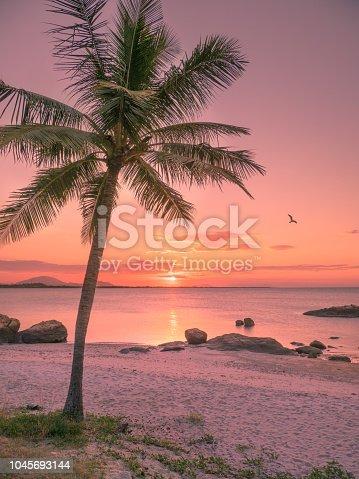 Beachside tropical sunset in Bowen, Queensland