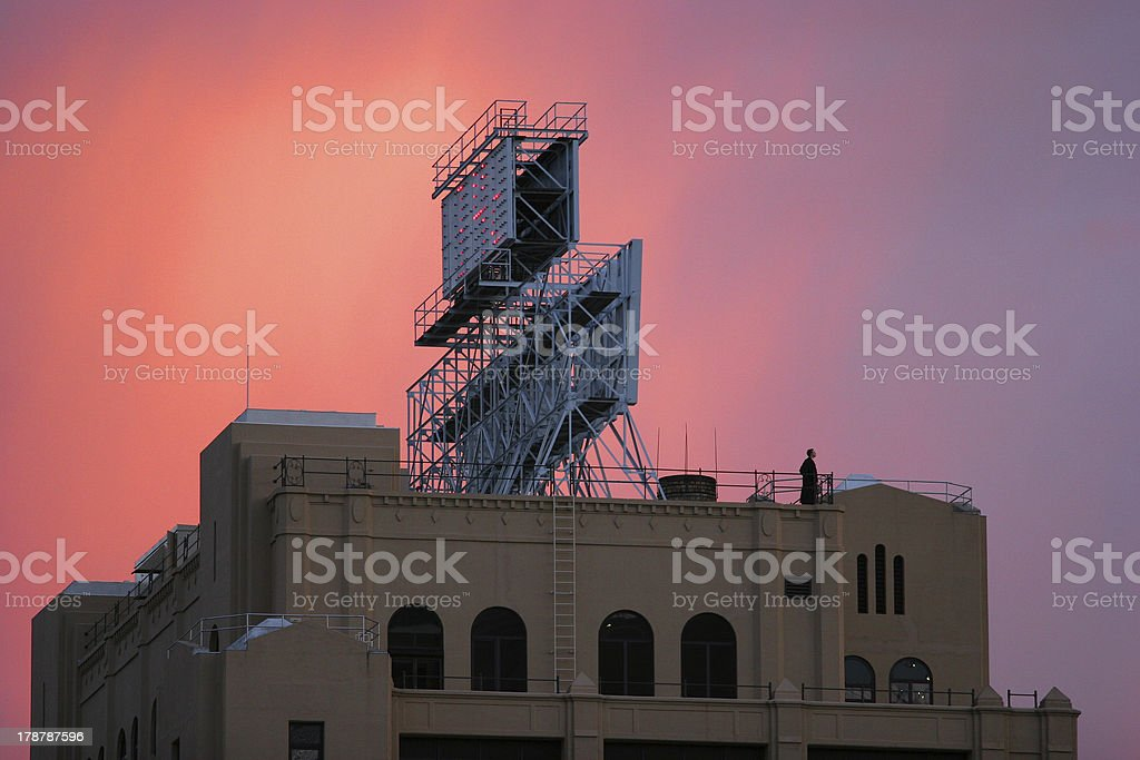 Sunset in Brooklyn royalty-free stock photo