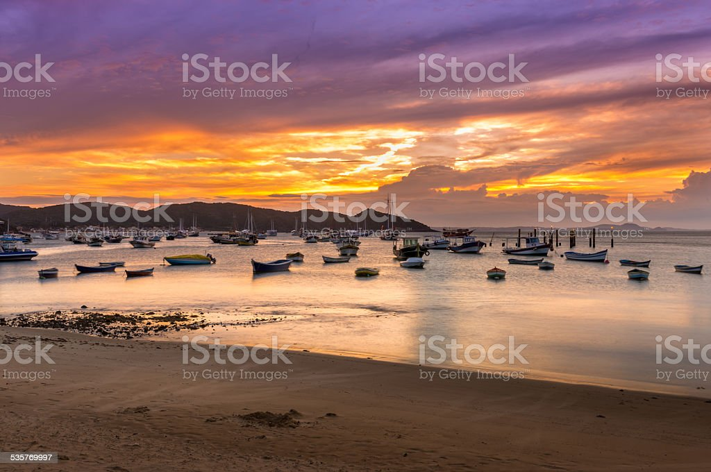 Sunset in Buzios. Rio de Janeiro stock photo