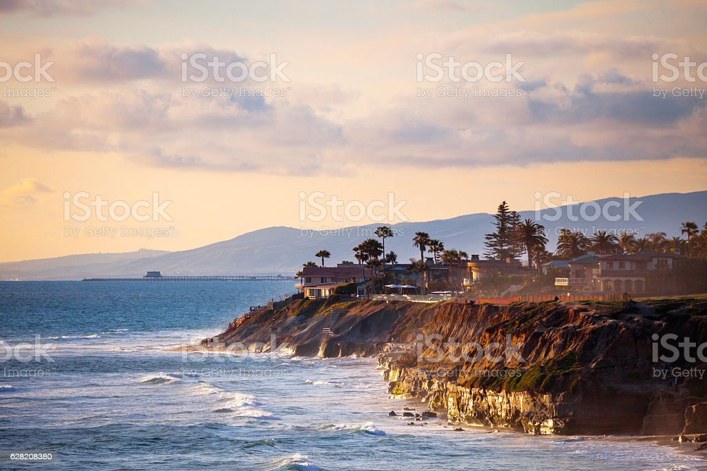 Sunset in California. stock photo