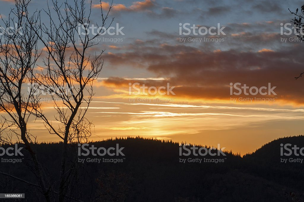 Sunset in chianti royalty-free stock photo