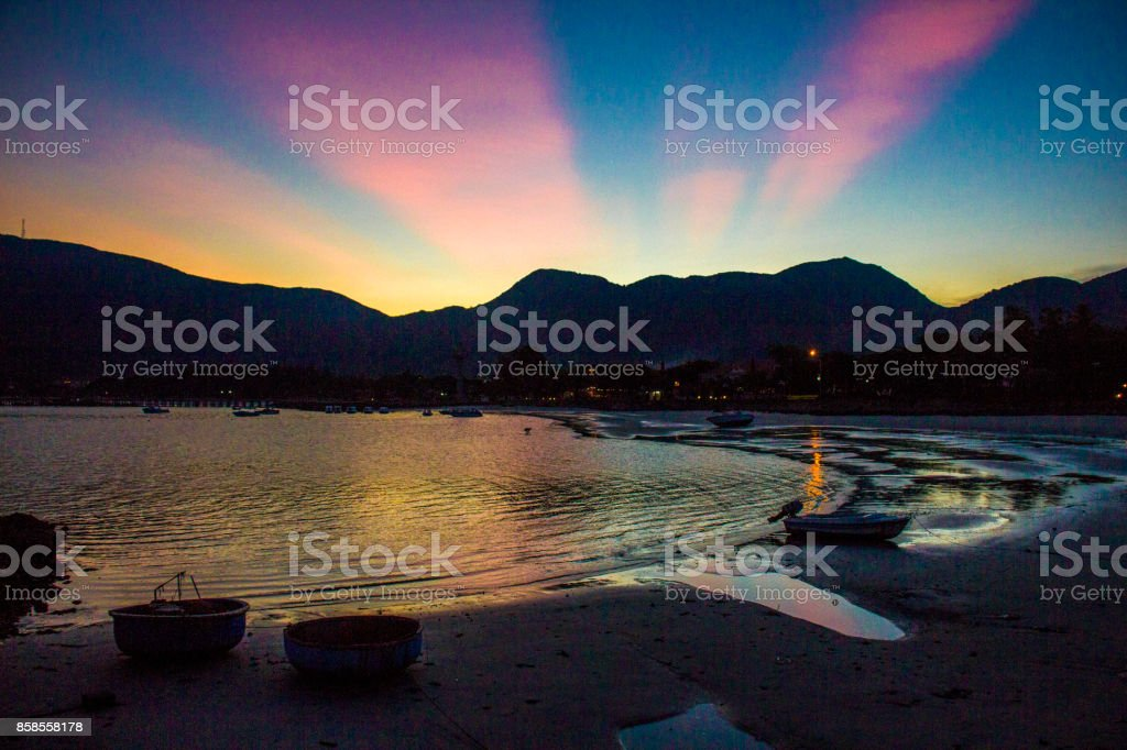 Sunset in Con dao Island, Vietnam stock photo