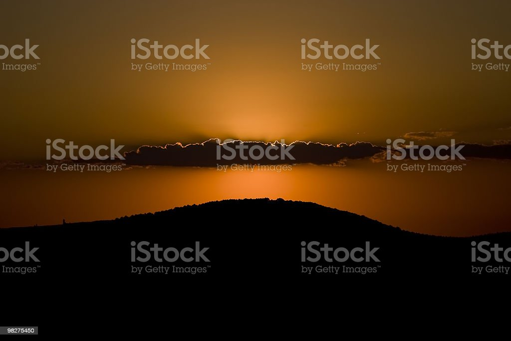 Sunset in Crimean mountains royalty-free stock photo