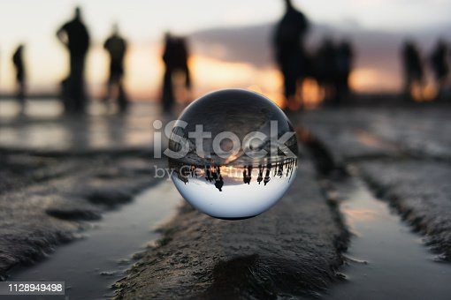 Photo of a Sunset on a Crystal Ball.