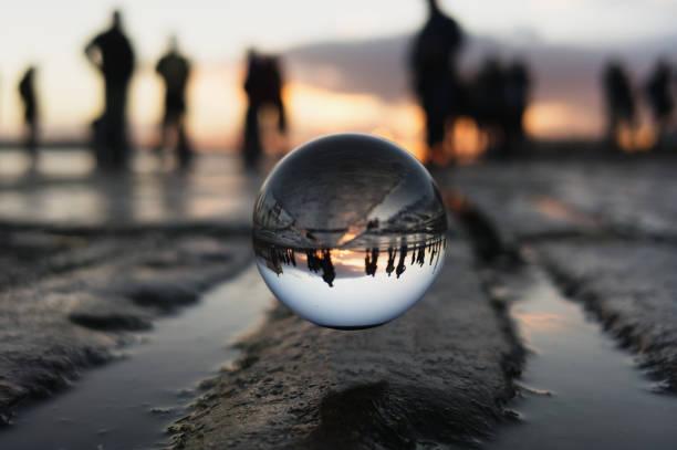 Sonnenuntergang in Kristallball – Foto