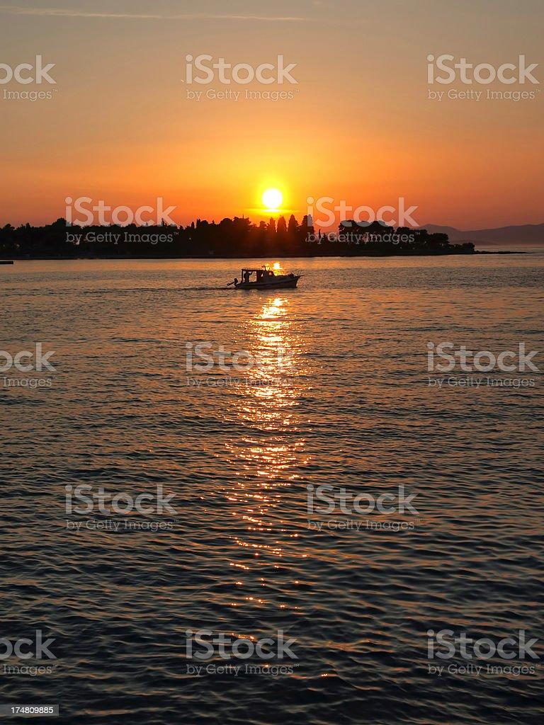 Sunset in Dalmatia royalty-free stock photo