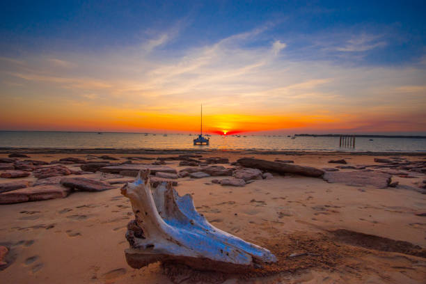 sunset in darwin - darwin stock photos and pictures