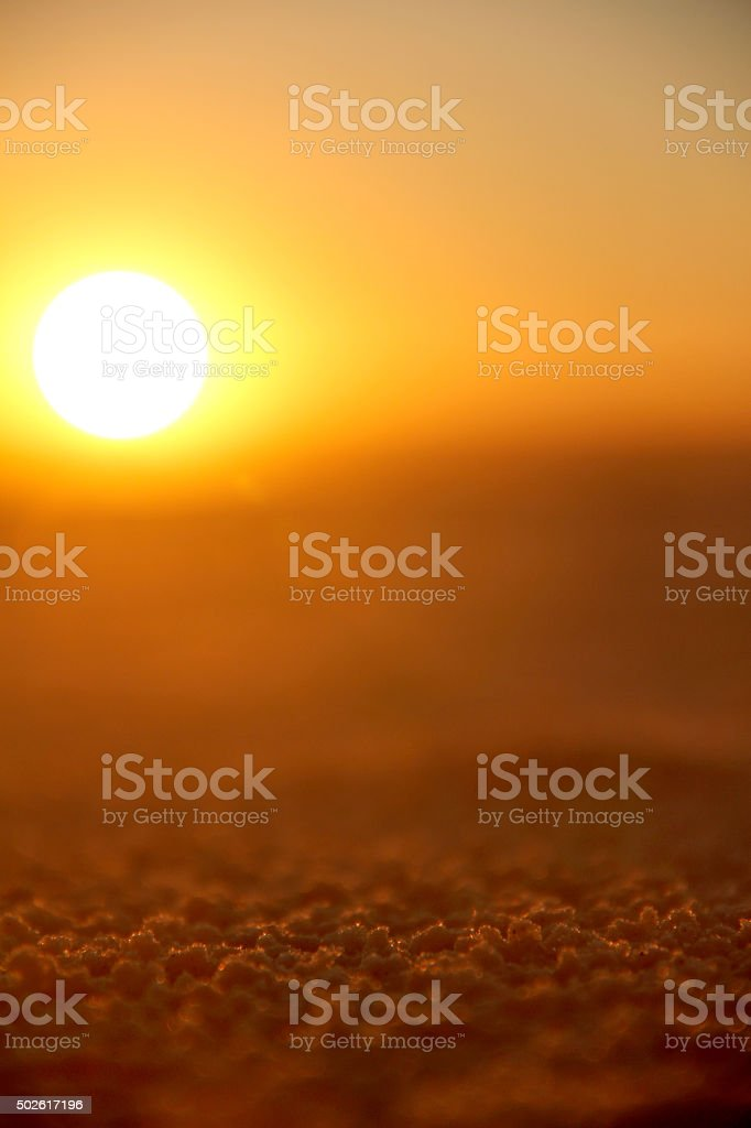 Sunset in destine island USA Red sunset by the ocean stock photo