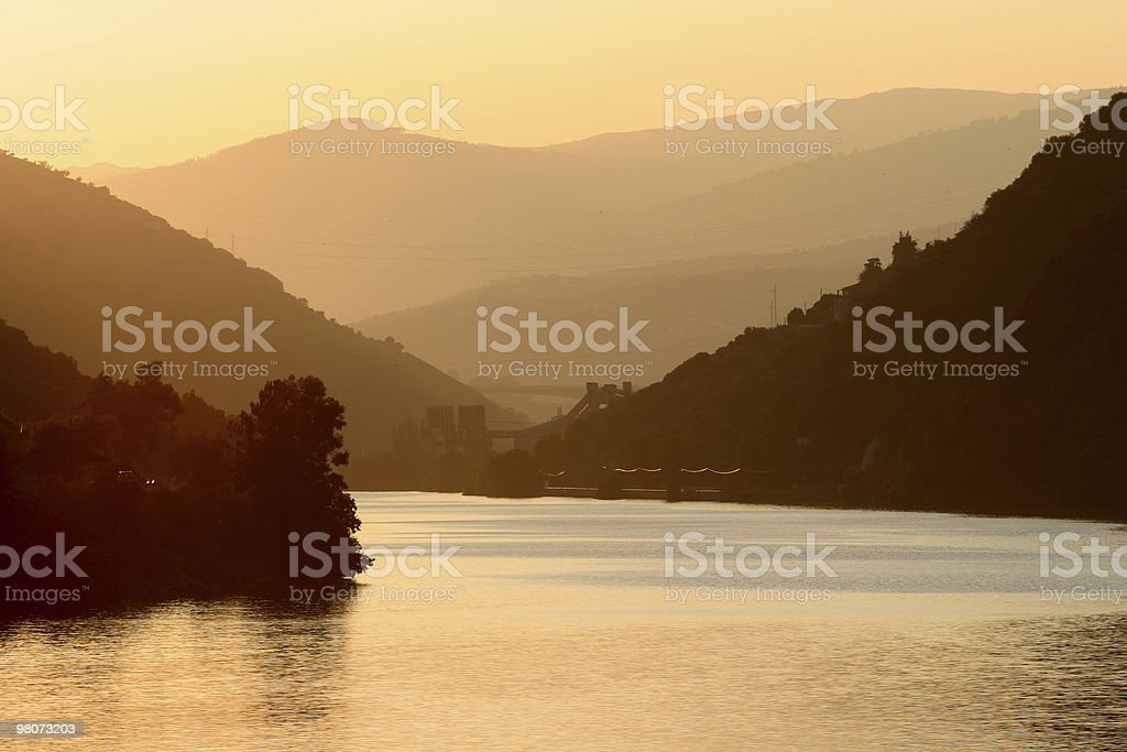 Sunset in Douro Valley royalty-free stock photo