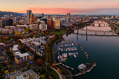 istock Sunset in Downtown Portland Oregon 1283364803