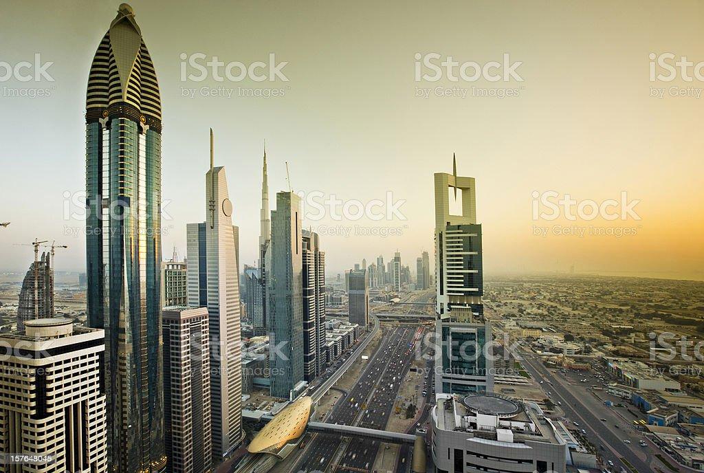 Sunset in Dubai royalty-free stock photo