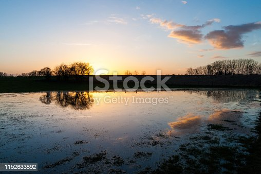 istock Sunset in East Flanders 1152633892
