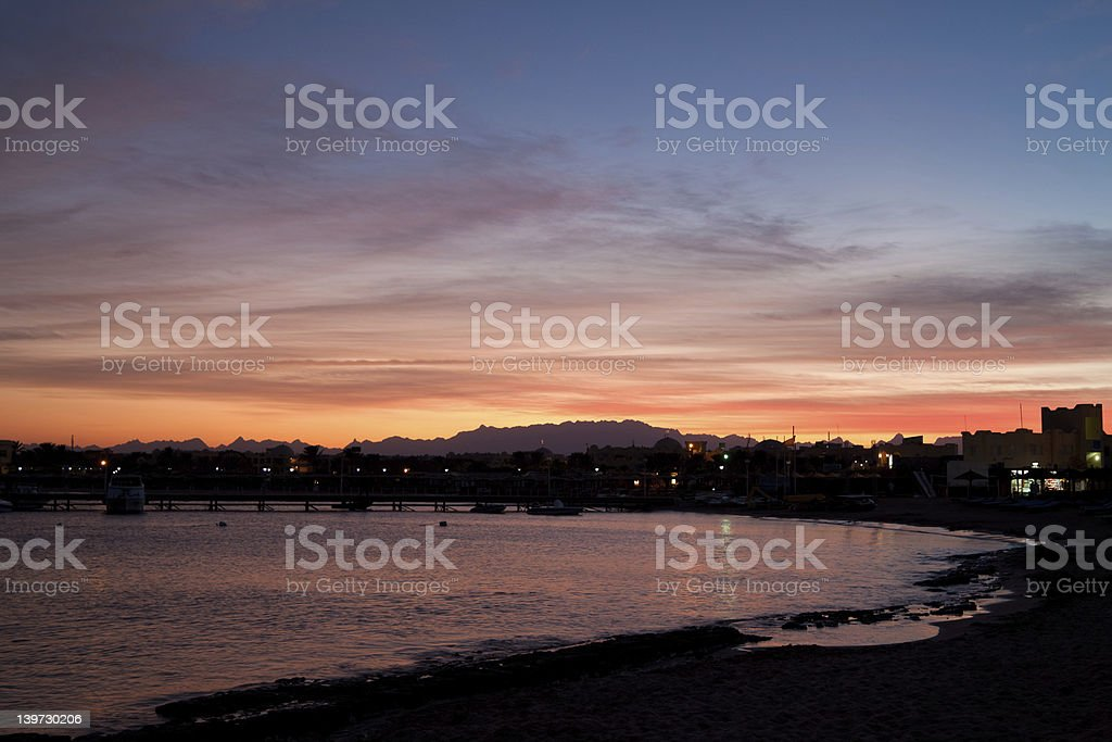 Sunset in Egypt. royalty-free stock photo
