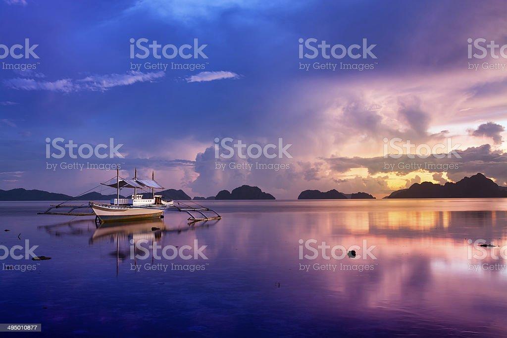 Sunset in El Nido, Palawan - Philippines stock photo