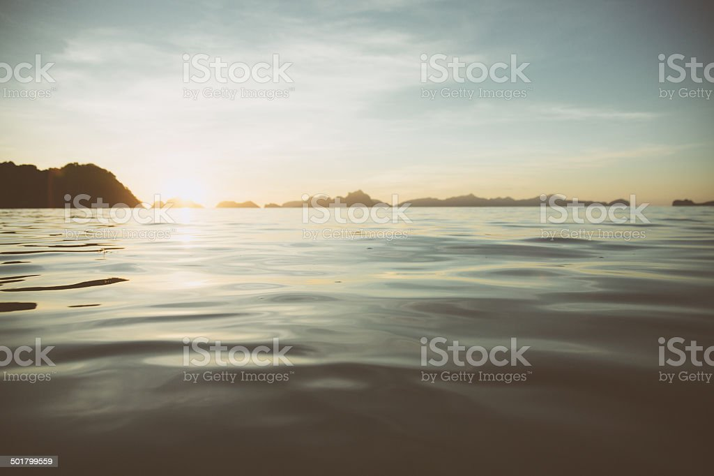 Sunset in El Nido stock photo
