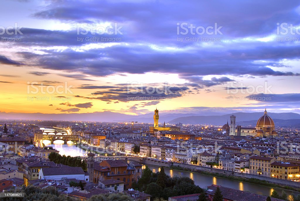 Sunset in Florence royalty-free stock photo