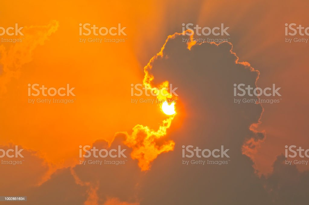 Sunset in Florida stock photo