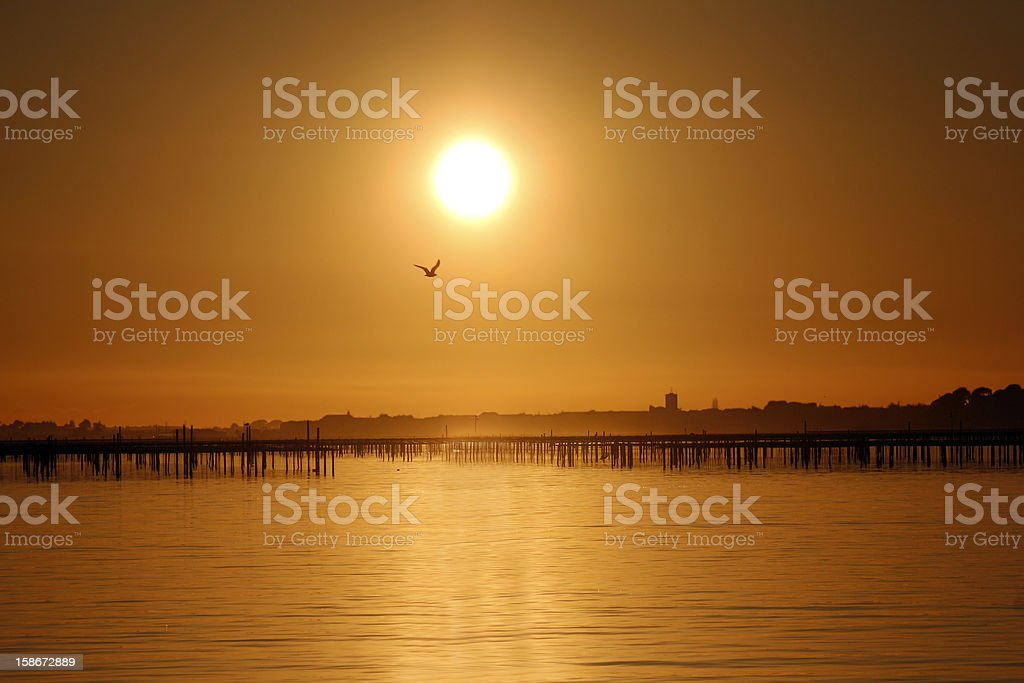 Sunset in france royalty-free stock photo