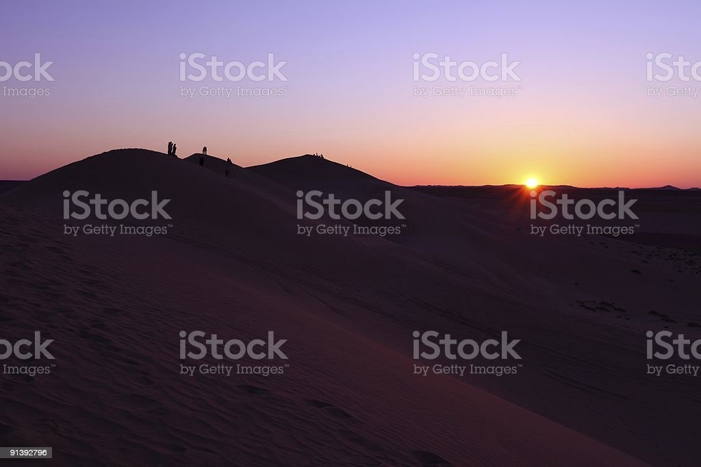 Sunset in Ghadames stock photo