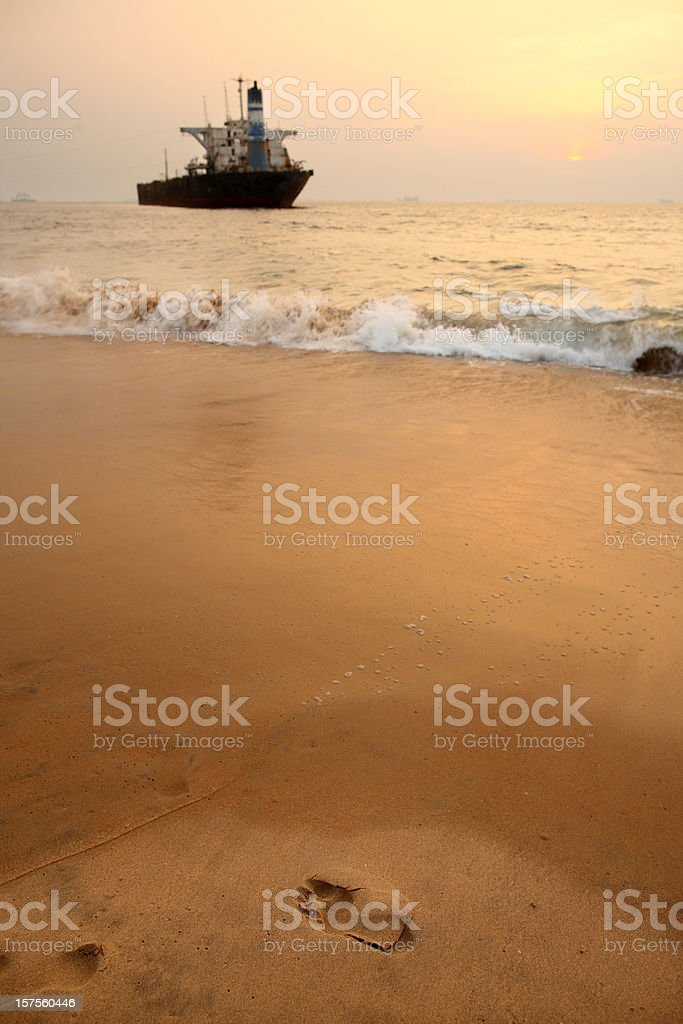 Sunset in Goa royalty-free stock photo