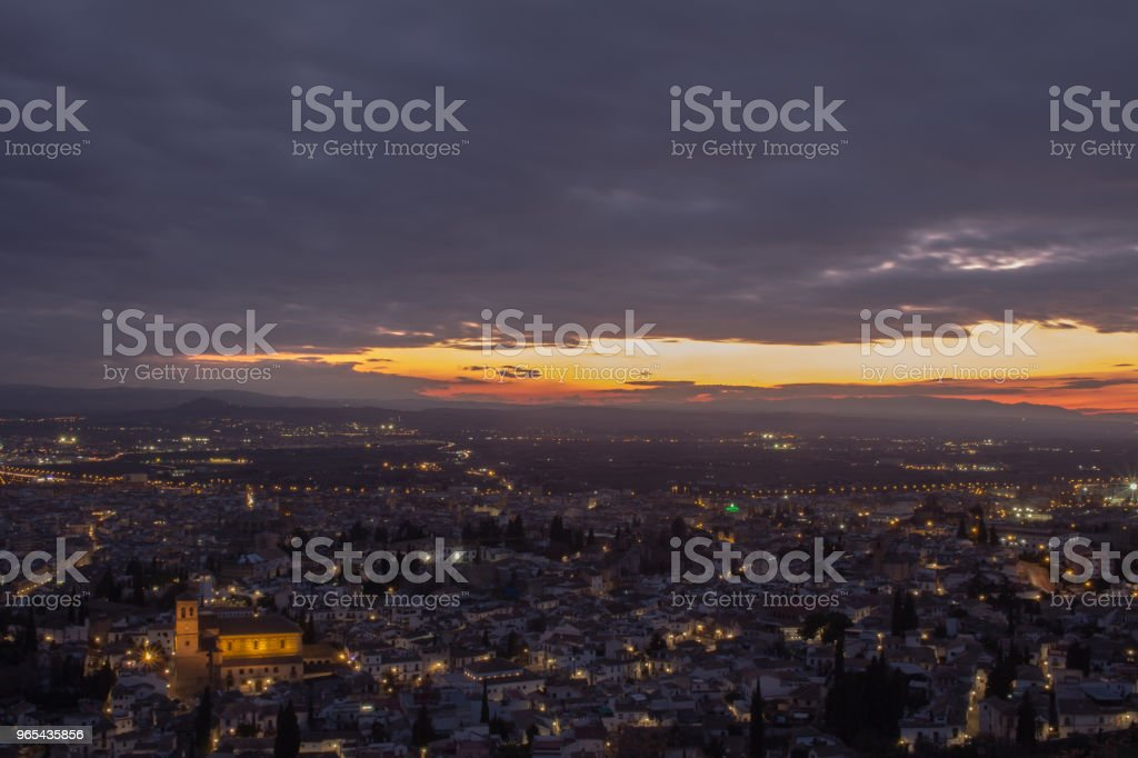Sunset in Granada royalty-free stock photo