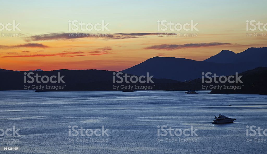Sunset in Greece royalty-free stock photo