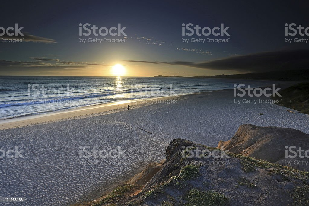 Sunset in Half Moon Bay, California stock photo