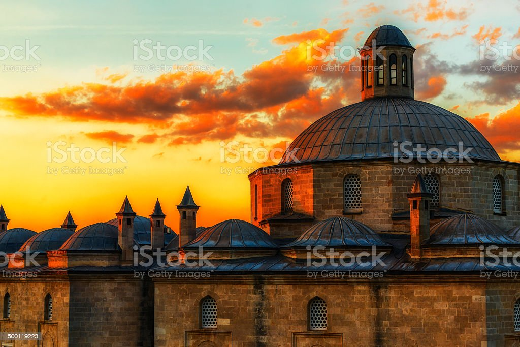 Sunset in Historic Sites stock photo