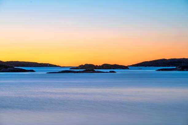 sunset in hunnebostrand - bohuslän nature bildbanksfoton och bilder