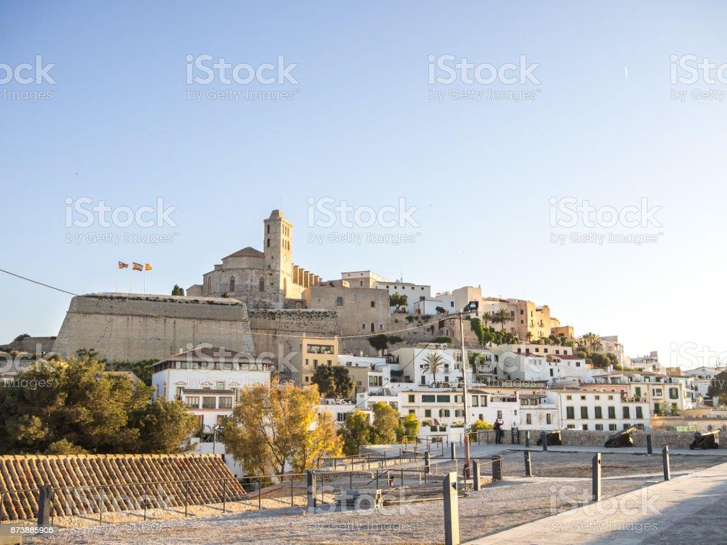 Sunset in Ibiza royalty-free stock photo